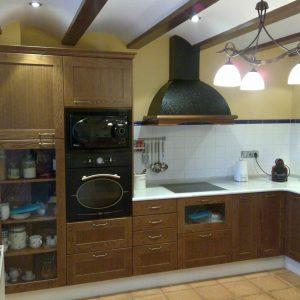 Cocina rustica madera roble
