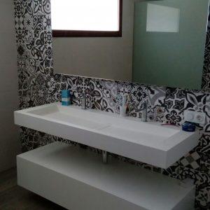 Baño doble moderno